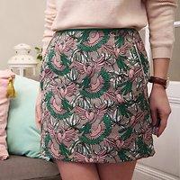 | JAPON | - Jupe imprimé perroquets // Vert & rose