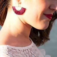 | LÉNA | - Boucles d'oreilles franges // Plusieurs coloris