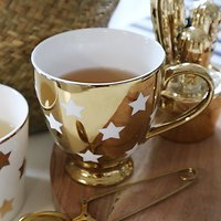 | DUCHESSE | - Mug céramique // Or étoiles blanc