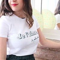 """  THÉÂTRE   - T-shirt coton """"Je t'aime"""" // Écru"""