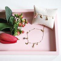| DIVA | - Bracelet fin pompons // Plusieurs coloris
