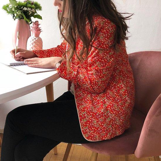 | MARINA | -  Veste fluide fleurie // Coquelicot (2)