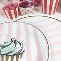 Assiettes en carton Prunella