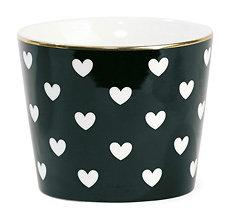 Aurore - Mug en céramique // Cœurs blancs