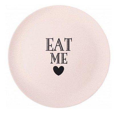 """Prissy - Assiette en mélaminé // """"Eat me"""" rose"""