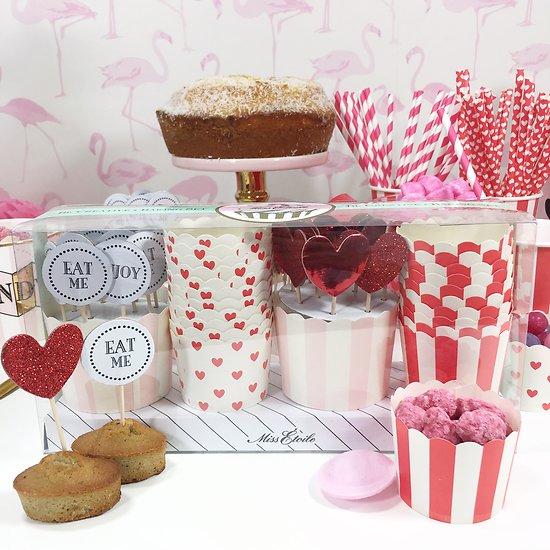 Bucky - Set à cupcakes // Rose & rouge