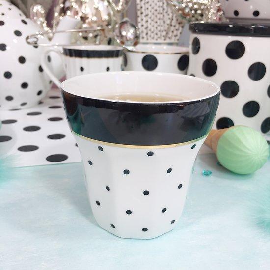 | MARIE | - Mug en céramique // Pois noirs