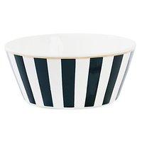 Corail - Grand bol en céramique // Rayures noires