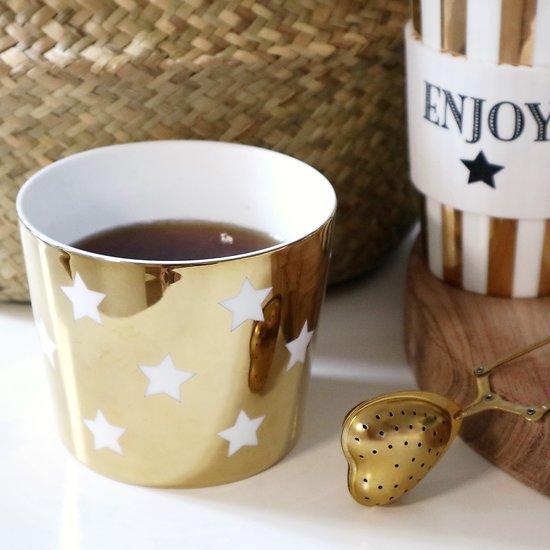 | AURORE | - Mug en céramique étoiles // Doré