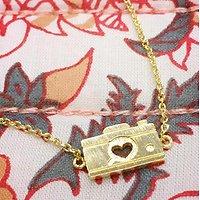 Appareil photo - Bracelet fantaisie // Doré