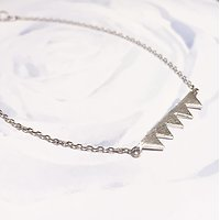 | TRIANGLES |- Bracelet fantaisie // Argent