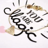 | TRIANGLE | - Bracelet fantaisie // Doré