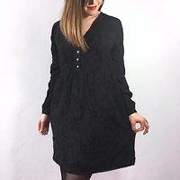 Manon - Robe texturée // Noir
