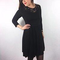 Graziella - Robe en dentelle // Noir