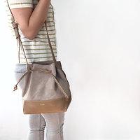 Woode mini - Petit sac seau // Sable