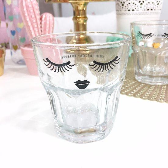 Gédéon - Petit verre // Visage noir