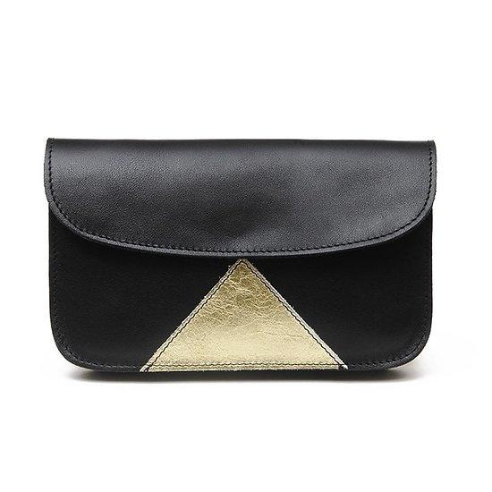 Eugénie - Compagnon en cuir triangle // Noir