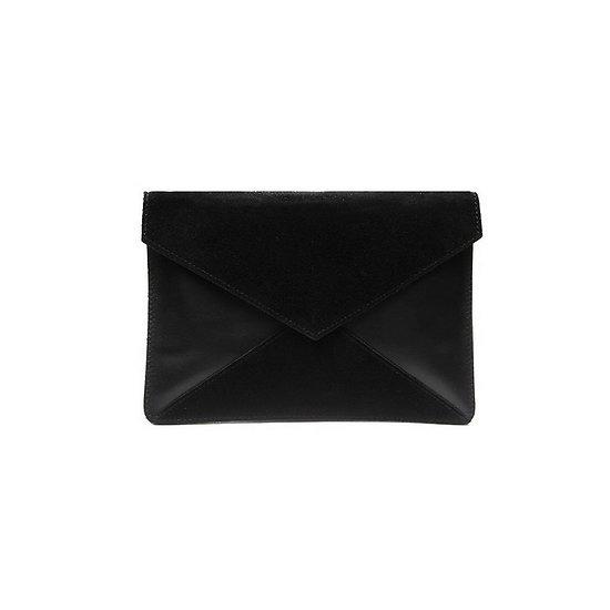 Adèle  - Petite pochette enveloppe // Noir