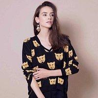 Grrr - Pull tricot léopards // Noir