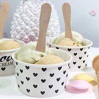 Ida - Petits pots à glaces // Petits cœurs noirs
