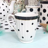 Miss- Mug rétro en céramique  // Pois noirs
