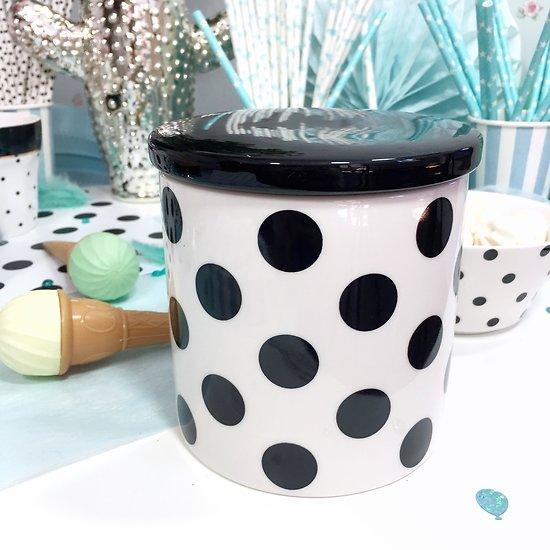 Jimminy - Pot en céramique // Gros pois noirs