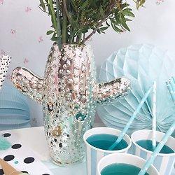 | GIDDY | - Vase cactus 2 branches // Argenté
