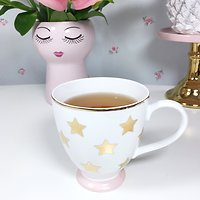 Duchesse - Tasse en céramique // Etoiles dorées & poudre