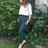 Dome - Pantalon coupe boyfriend // Vert