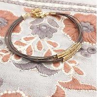 | ABELLE | - Bracelet liens et tubes // Gris anthracite