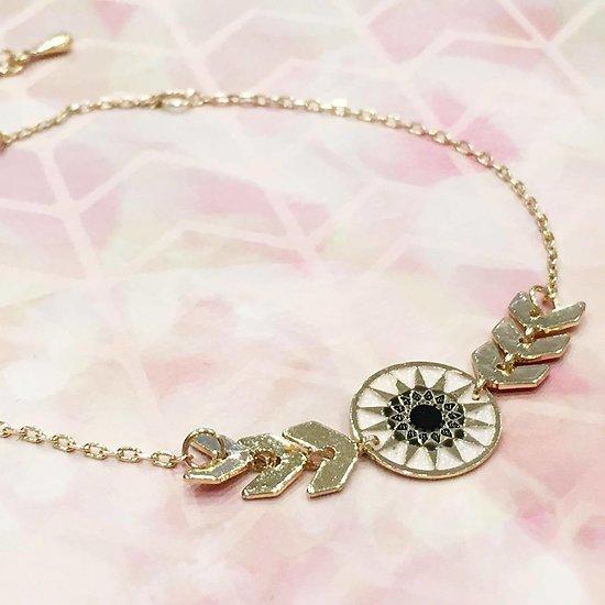   ANA   - Bracelet épis et rosace // Rose