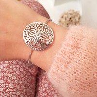 | MARCIA | - Bracelet jonc rosace // Argent