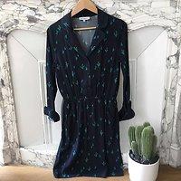 | RAPHAEL | - Robe chemise cactus // Marine