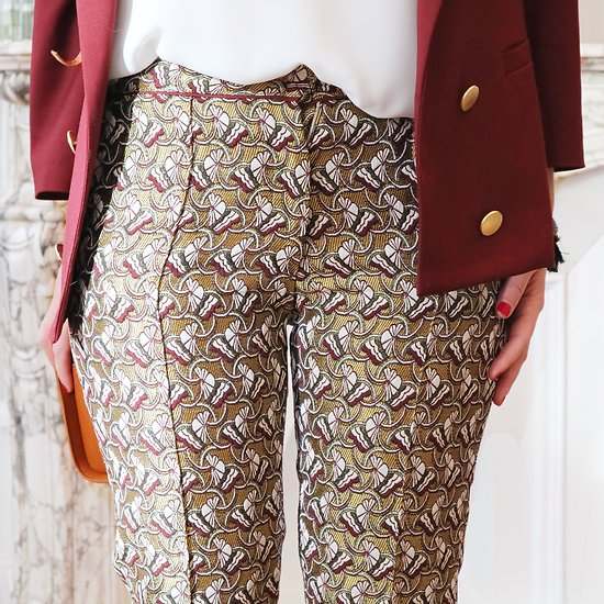 | BROOKLYN | - Pantalon jacquard
