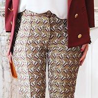 | BROOKLYN | - Pantalon épais jacquard // Doré