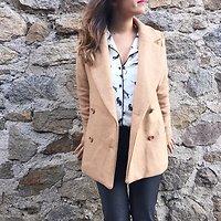 | VALLÉE | - Manteau effet drap de laine // Beige