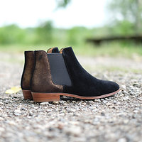 | PIED DE BICHE | - Chelsea boots irisées // Noir