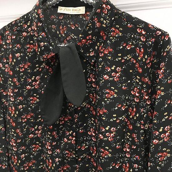 | GRINO | - Chemisier cravate // Noir