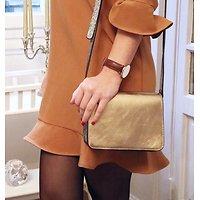 | BOBO | - Petit sac tricolore en cuir // Gris & doré