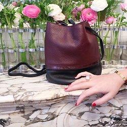 | BUCKET S | - Petit sac seau en cuir