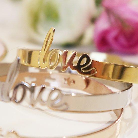   LOVE   - Bracelet jonc ajustable // Plusieurs coloris