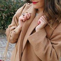 | TINE | - Manteau en laine mélangée // Camel