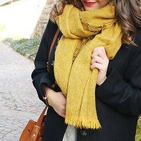   LISA   - Écharpe chinée en laine // Moutarde