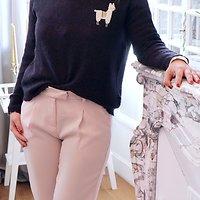 | BROOKLYN | - Pantalon chino // Rose