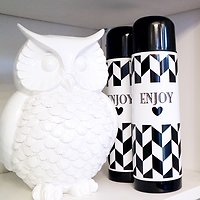 "| TILLIE | - Thermos girly ""Enjoy"" // Noir"