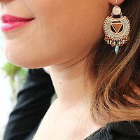| EMILY | - Boucles d'oreilles perles Miyuki // Ciel