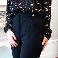   ANAIA   - Pantalon droit boutons // Noir