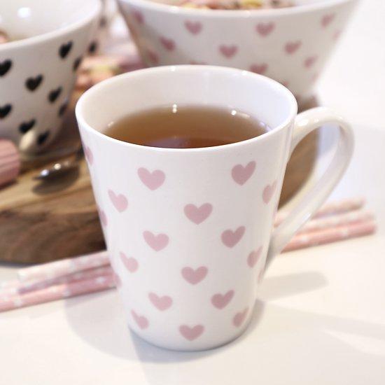 | CORNÉLIUS | - Tasse girly avec anse // Cœurs roses