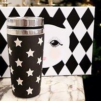 | ARIELLE | - Travel mug thermos étoiles // Noir