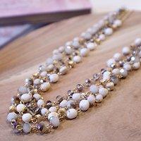 | MARIANNE | - Sautoir perles multirangs // Écru